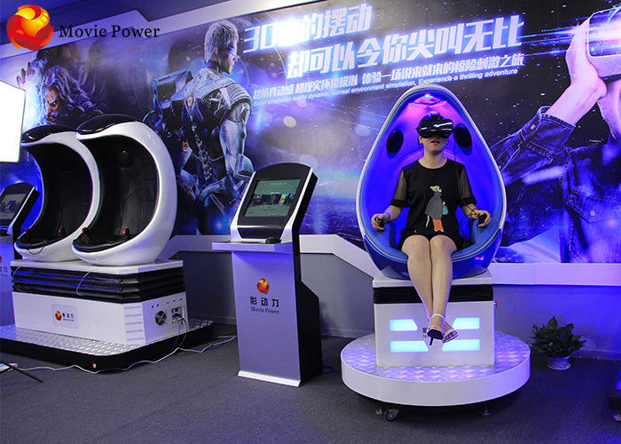 Most Real Virtual Reality Experience  9D VR Egg Chair Cinema Simulator 9D VR supplier