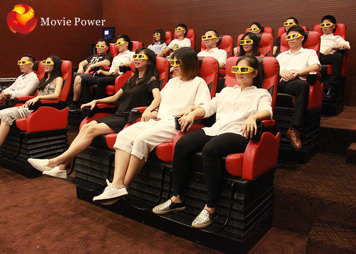 Black / White / Red Seat 4D Movie Theater , Virtual Reality Equipment For Amusement Park