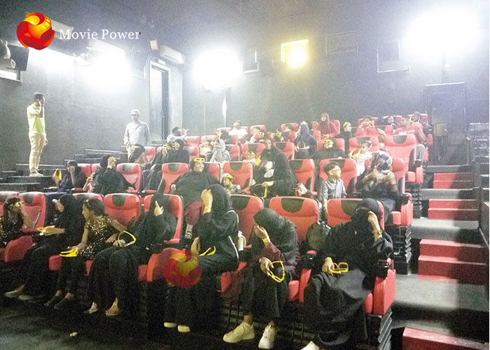 China Amazing 4d Cinema Equipment , 4d Motion Chair 2-100 Seats Available factory