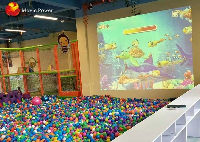 3D Interactive Projection Floor Motion Throwing Ball Simulator Indoor Playground 2m * 3m supplier