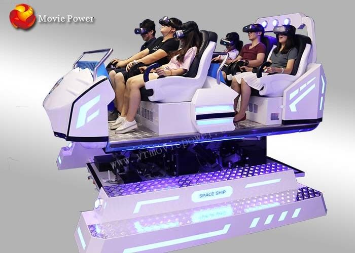 360 Degree View 6 Seater Cool Shape 9D Vr Cinema With Precise Motion Feeling  supplier