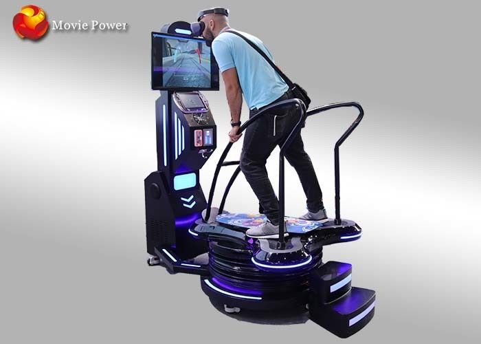 Black & Blue Standing Up 9D VR Surfing Motion Simulator Interactive Entertainment Games