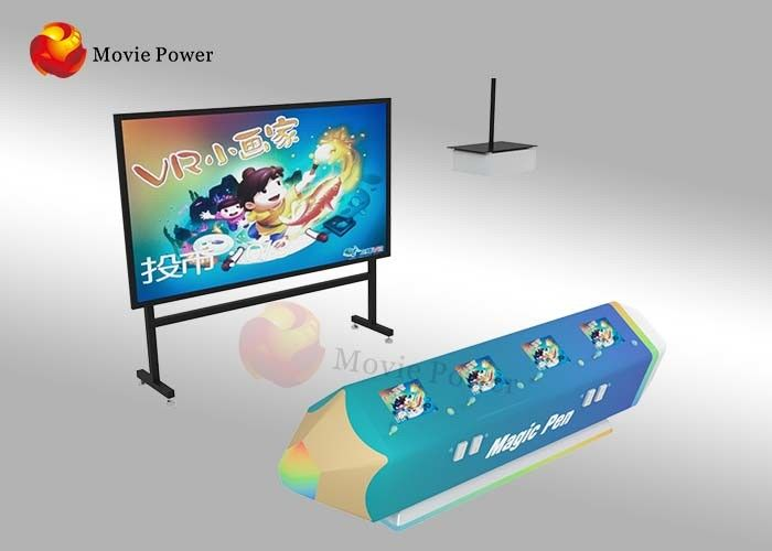 FRP + Steel Interactive Wall Projection Games AR Painting Fish For Kids