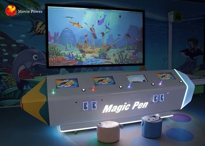 FRP + Steel Amusement Park Simulator Interactive Wall Projection Games AR Painting Fish Trees Dinosaur For Children