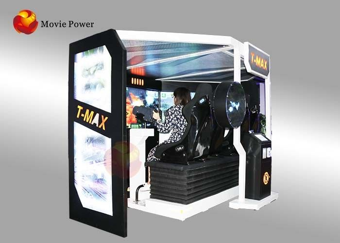 China VR Stereo Interactive Shooting 5D Movie Theater With Electric Platform factory