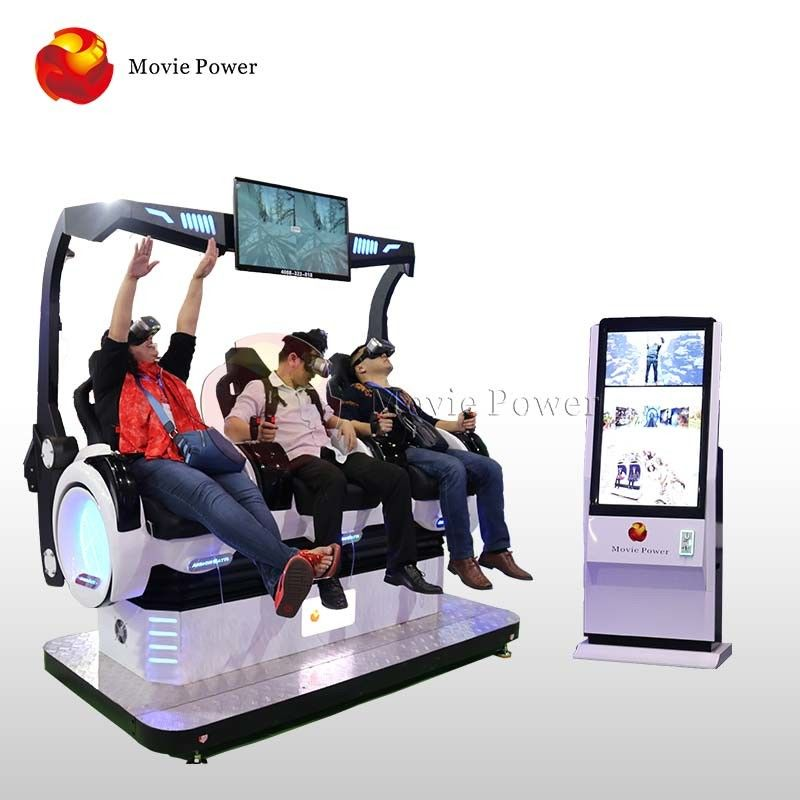 Coin Operated 9D VR Cinema 3 Seats For Indoor Playground / Shopping Mall supplier