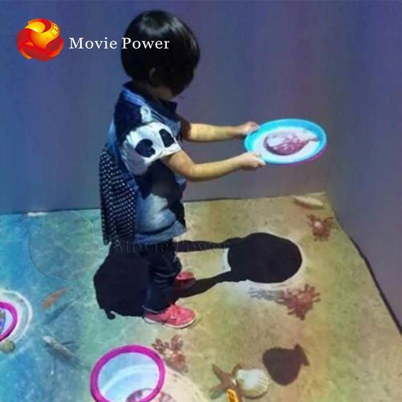 Infrared Sensing 9D VR Cinema Multi Interactive Floor Games Projection supplier
