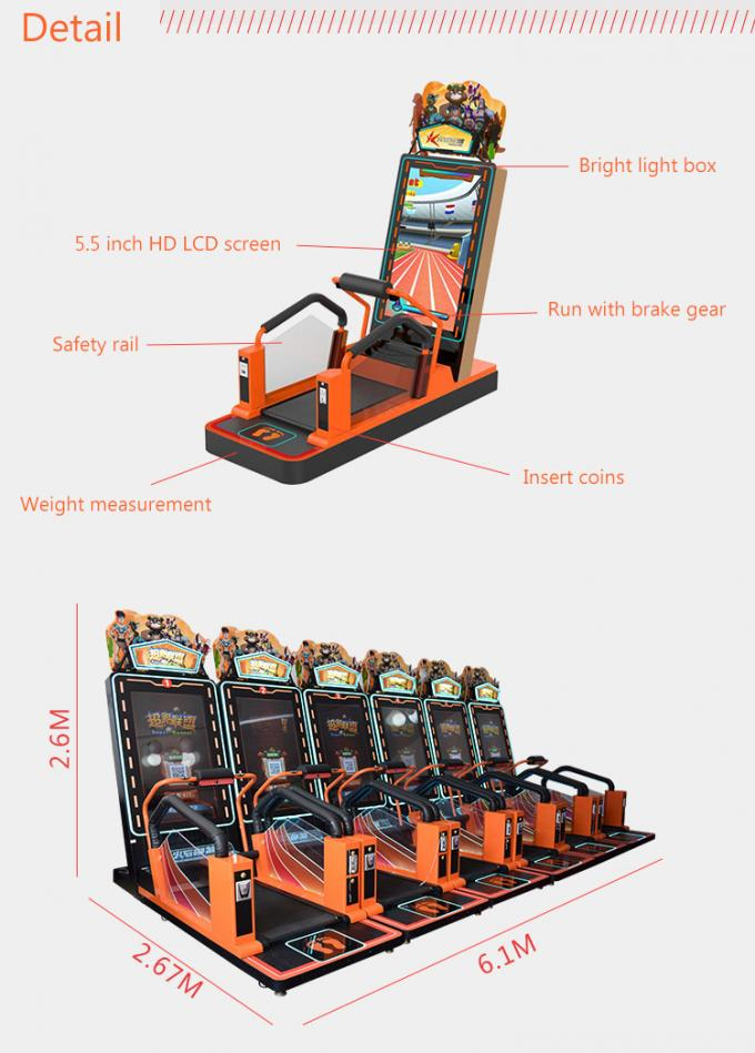 Super Runner Singe Player Virtual Reality Simulator Commercial Running Game Machine