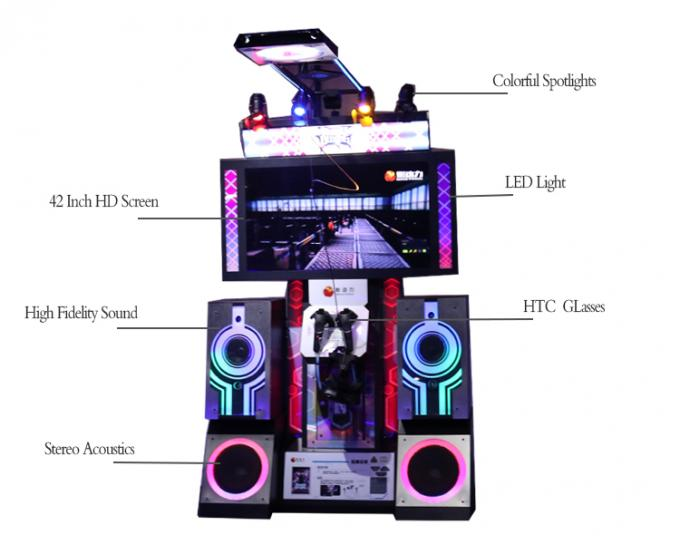 42 Inch Console Virtual Reality Simulator , Indoor Playground Game Park Dancing Redemption Game Machine