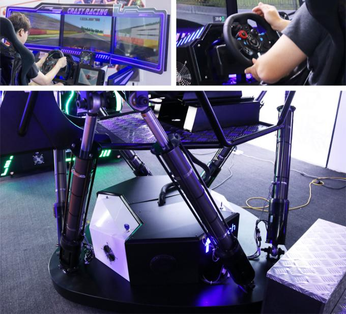 Motion 6 Dof 9D Simulator Coin And Wechat Operated / Arcade Car Racing Games