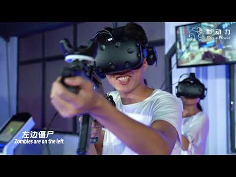 4 Players Indoor Virtual Reality Shooting Machine Simulator Customized Color